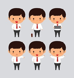 Elegant young business man set2 vector