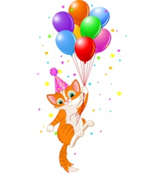 balloons cat vector image