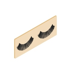 False eyelashes icon isometric 3d style vector image