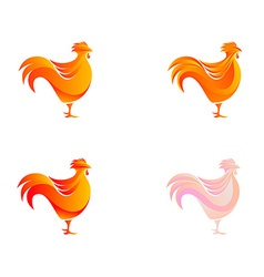 chicken logo template vector image
