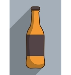 Drink bottle design with label icon vector