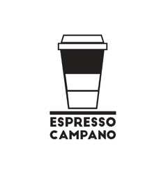Black icon on white background espresso vector