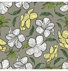 Bell thai flower seamless grunge vector image