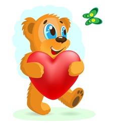 bear love vector image vector image