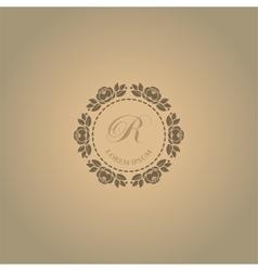 Calligraphic elegant floral monogram design vector