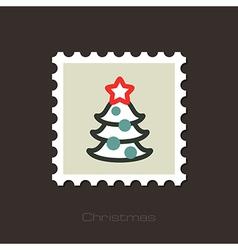 Christmas tree stamp vector