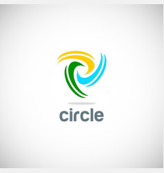 circle spin colored logo vector image
