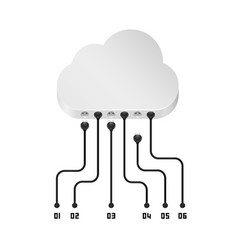 Cloud information data art sign vector