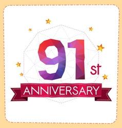 Colorful polygonal anniversary logo 2 091 vector
