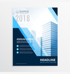 creative blue business brochure design template vector image vector image