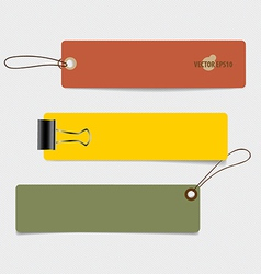 Cute note papers tag vintage style template design vector