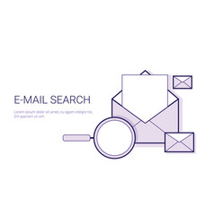 e-mail search business concept template web banner vector image