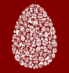 Easter egg made from small egg symbols vector image vector image