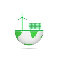 Energy saving technologies vector image vector image