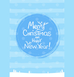Merry christmas lettering text into winter vector