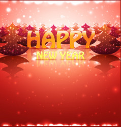 nature greetin card happy new year with christmas vector image vector image