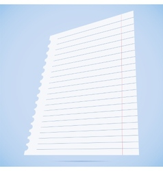 Notebook paper sheet vector