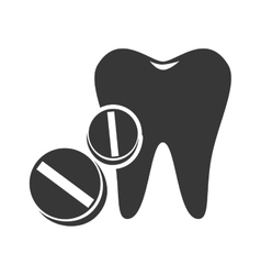 Oral tooth icon vector