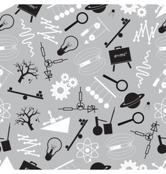 Physics black and white seamless pattern eps10 vector