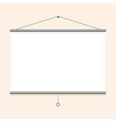 Portable projector screen vector image vector image