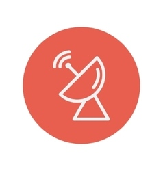Radar satellite dish thin line icon vector