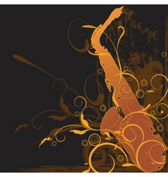 sax background vector image