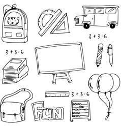 School education doodles vector