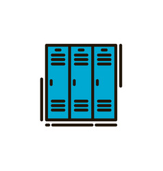 school locker vector image