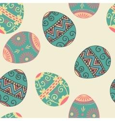 Seamless easter eggs pattern elegant vector