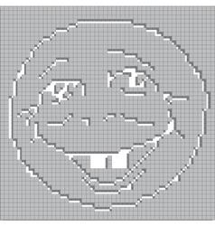 Smoling mosaic face vector image