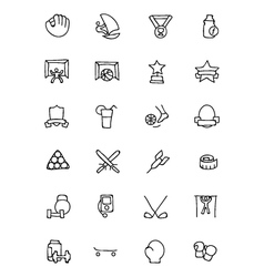 Sports hand drawn doodle icons 8 vector