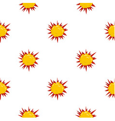 Terrible explosion pattern seamless vector