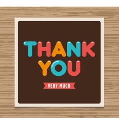 Thank you card brown vector