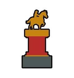 trophy horse animal ridding sport hobby icon vector image vector image