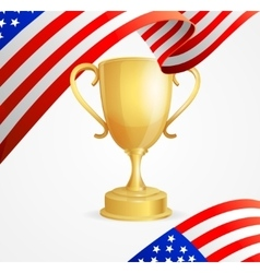 Usa winning golden cup concept vector