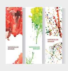 vertical business banner set with abstract rainbow vector image