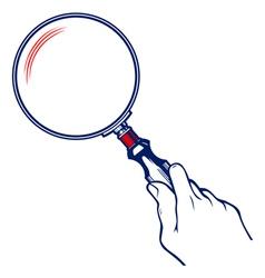 zoom magnifier vector image vector image