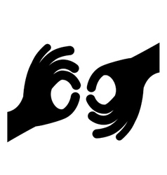 Sign language isolated icon design vector