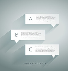 Clean chat bubble infograph vector
