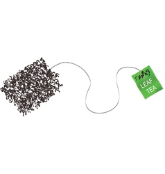 Teabag made from tea leaf concept vector