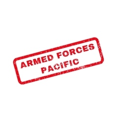Armed forces pacific rubber stamp vector