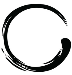 Zen Circle Black Ink Paintbrush vector image