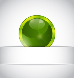 Abstract eco ball sticking out of the cut paper vector image