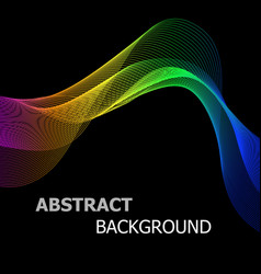 Abstract background with colourful line wave vector