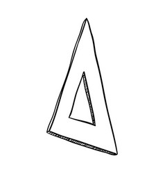 Line triangle ruler to can study vector