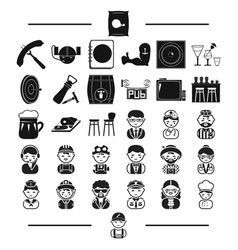 Furniture rest professions and other web icon in vector