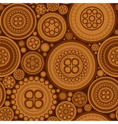 Seamless pattern with brown dotted circles vector image