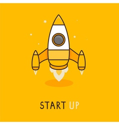 launch icon in flat style vector image