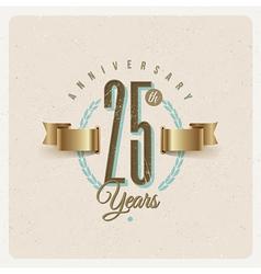 Vintage anniversary type emblem vector