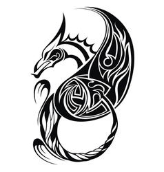 Dragon tatoo vector